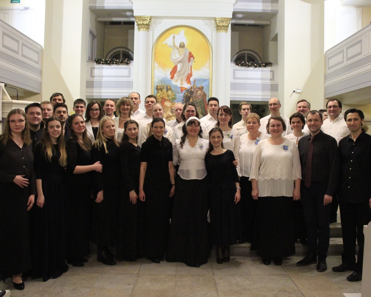 The Neva Church of Christ Choir with the Choir from Tallinn, Estonia